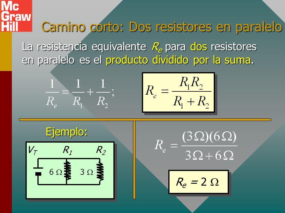 Ejemplo 3 (Cont.): Muestre que la corriente que sale de la fuente I T es la suma de las corrientes a través de los resistores R 1, R 2 y R 3. R3R3 R2R