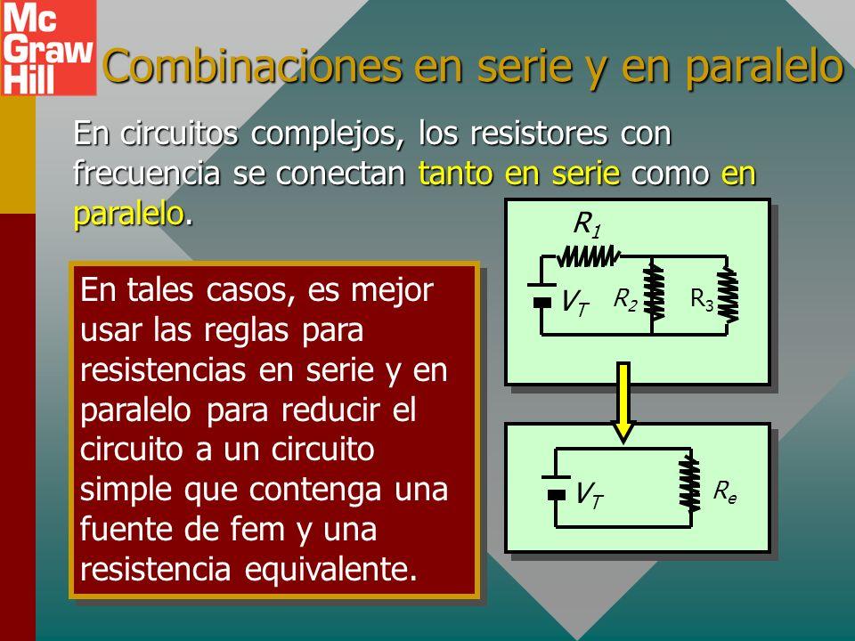 Camino corto: Dos resistores en paralelo La resistencia equivalente R e para dos resistores en paralelo es el producto dividido por la suma. R e = 2 E
