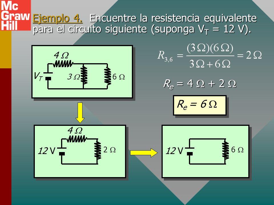 Combinaciones en serie y en paralelo En circuitos complejos, los resistores con frecuencia se conectan tanto en serie como en paralelo. VTVT R2R2 R3R3