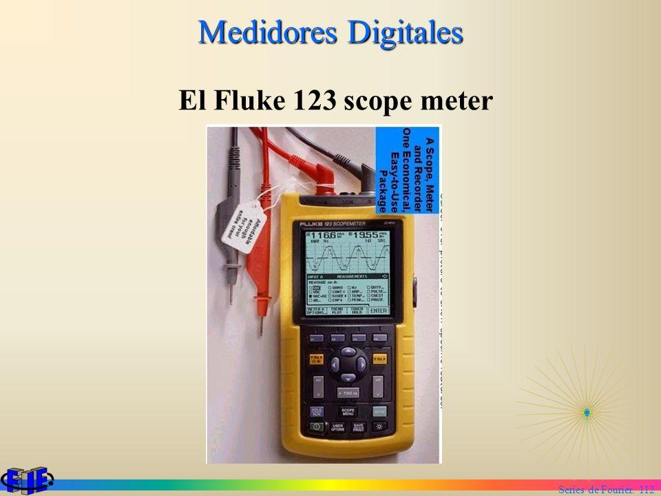Series de Fourier. 112 Medidores Digitales El Fluke 123 scope meter