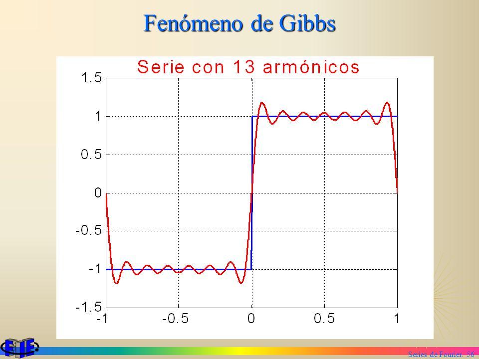 Series de Fourier. 56 Fenómeno de Gibbs