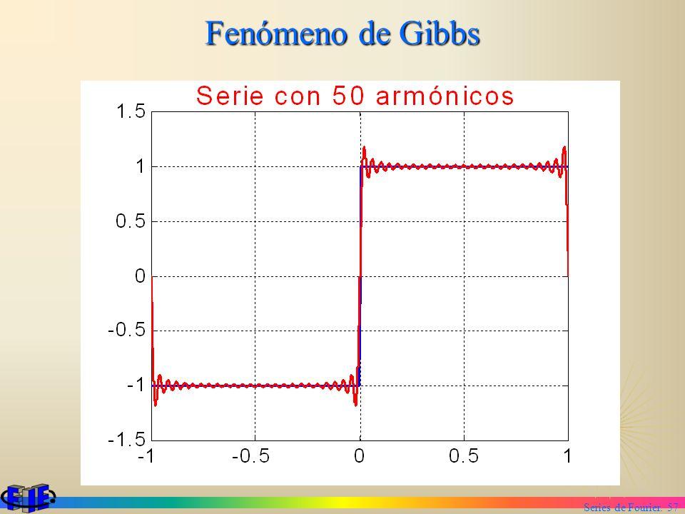 Series de Fourier. 57 Fenómeno de Gibbs