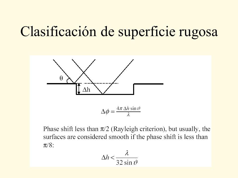 Clasificación de superficie rugosa