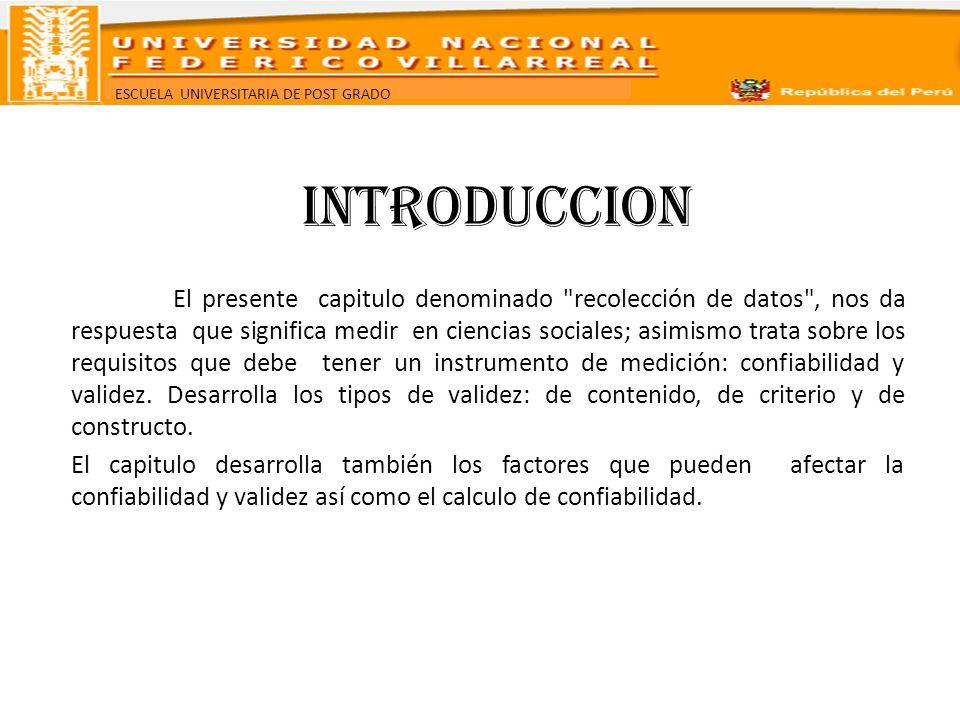 ESCUELA UNIVERSITARIA DE POST GRADO Las versiones son similares en contenido, instrucciones, duración y otras características.