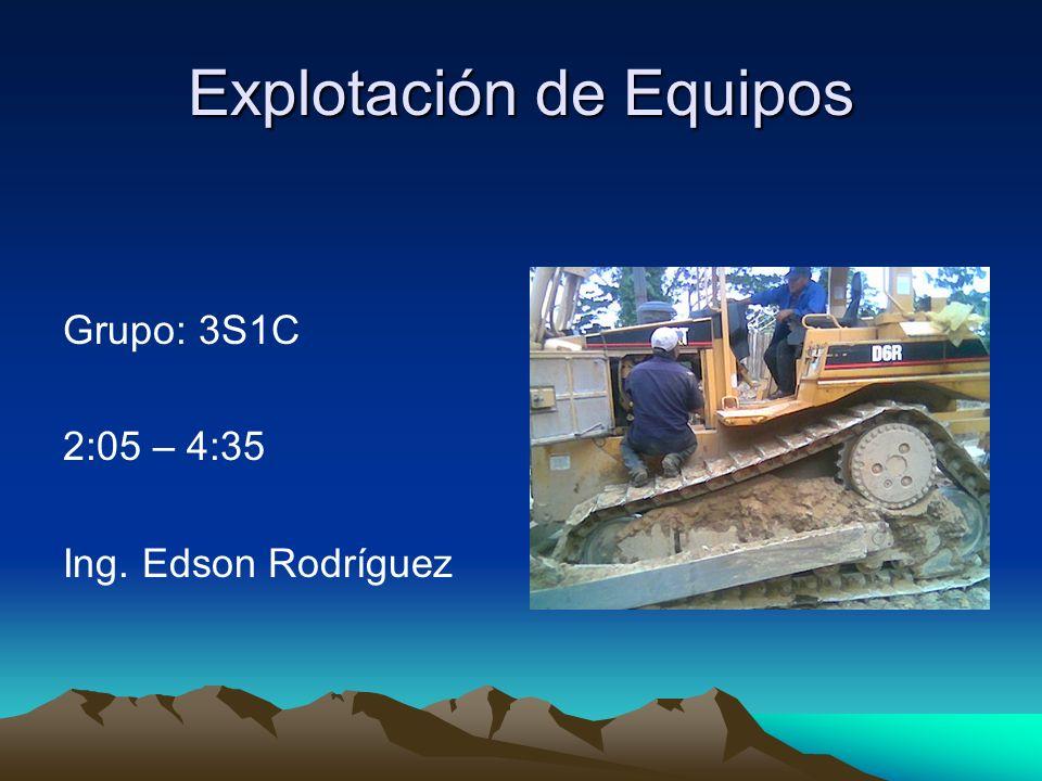 Explotación de Equipos Grupo: 3S1C 2:05 – 4:35 Ing. Edson Rodríguez