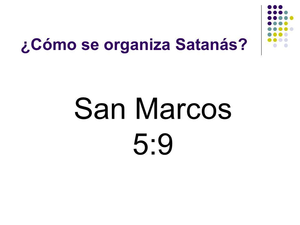 ¿Cómo se organiza Satanás? Reino sobre un emperio extenso y bien organizado. RH 15 de dic. 1904
