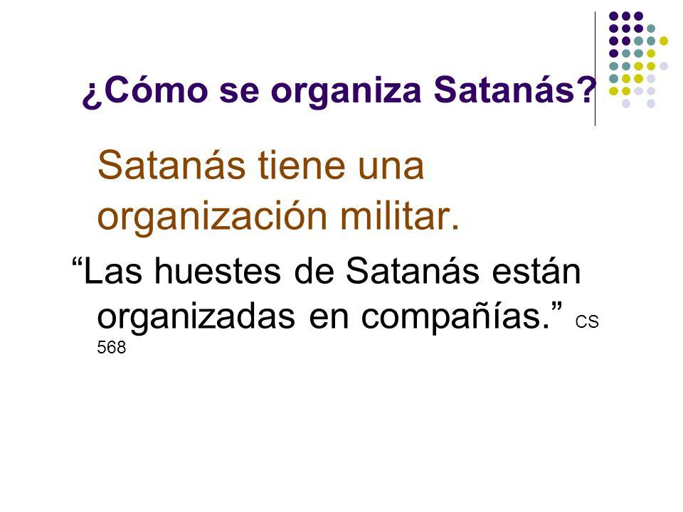 ¿Cómo se organiza Satanás? San Marcos 5:9