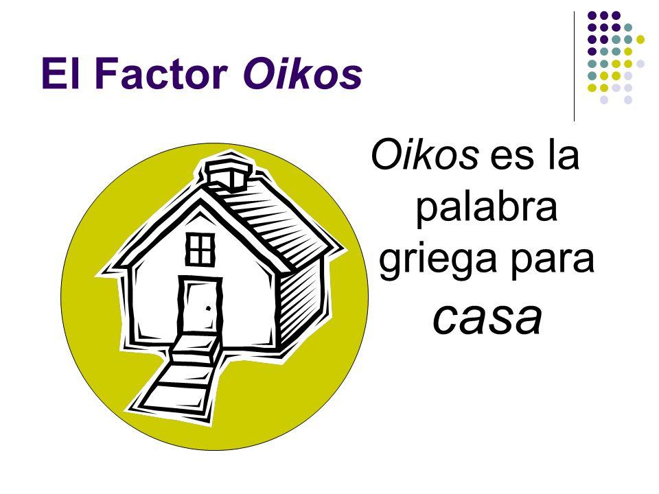 ¿ Qué es un Oikos ?