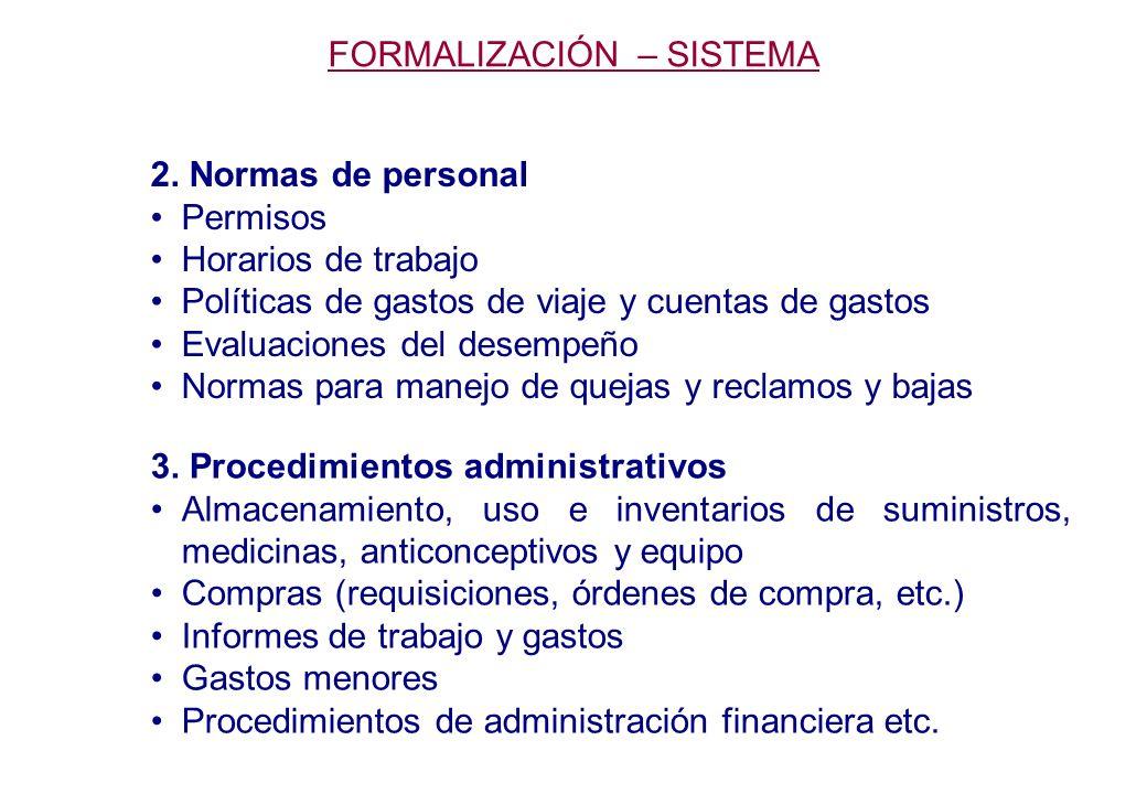 FORMALIZACIÓN – SISTEMA 2.