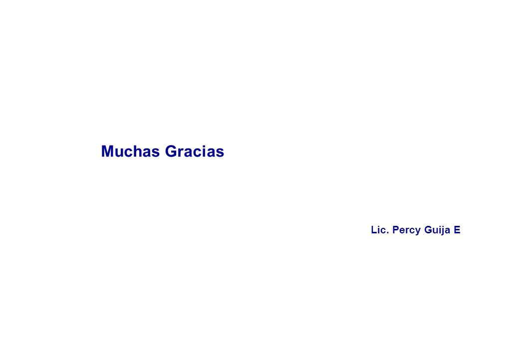 Muchas Gracias Lic. Percy Guija E