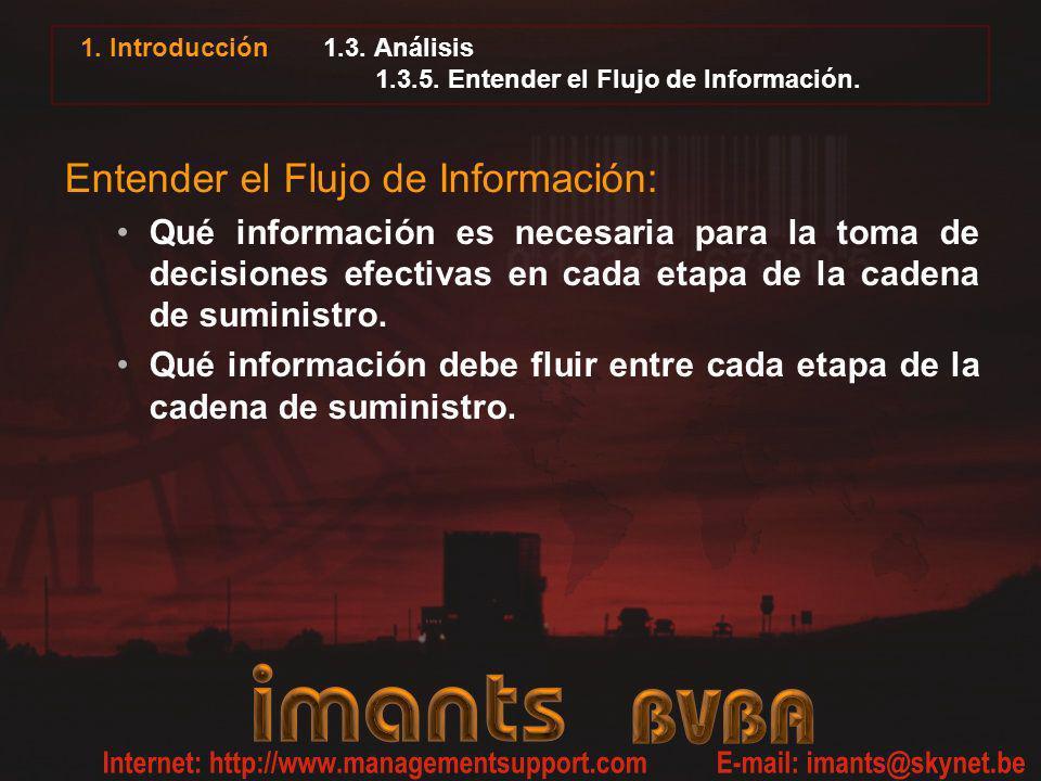 1. Introducción 1.3. Análisis 1.3.5. Entender el Flujo de Información. Entender el Flujo de Información: Qué información es necesaria para la toma de