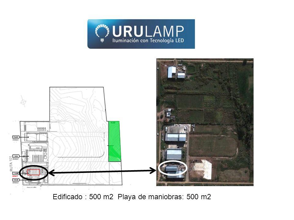 Edificado : 500 m2 Playa de maniobras: 500 m2