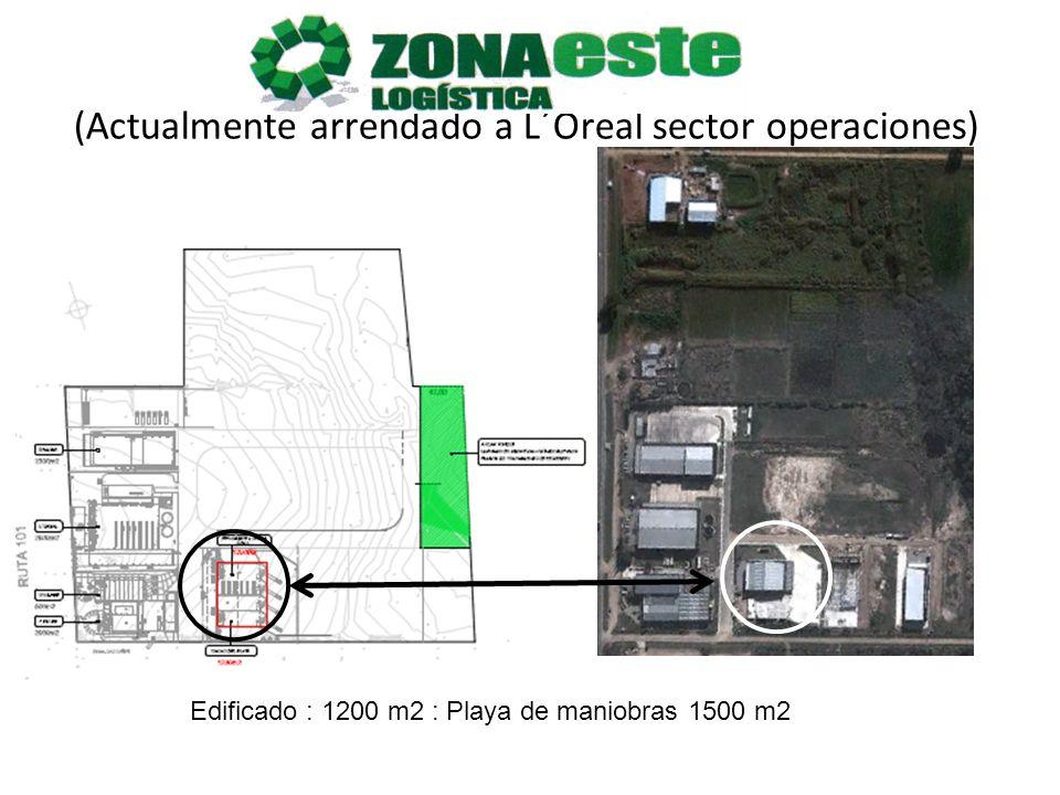 Edificado : 1200 m2 : Playa de maniobras 1500 m2