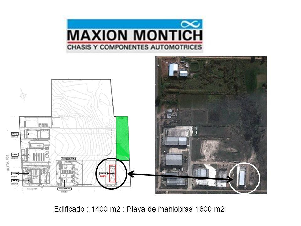 Edificado : 1400 m2 : Playa de maniobras 1600 m2