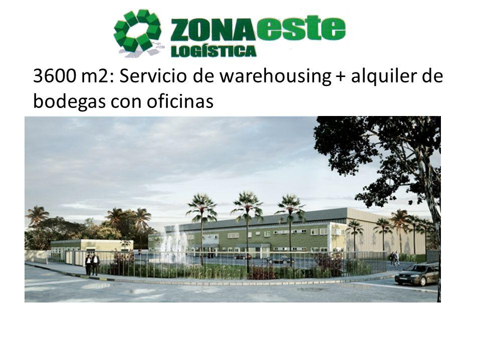 3600 m2: Servicio de warehousing + alquiler de bodegas con oficinas