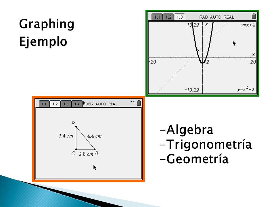 GraphingEjemplo -Algebra -Trigonometría -Geometría