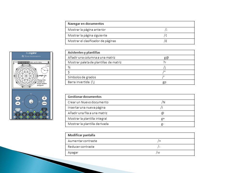 Navegar en documentos Mostrar la página anterior /¡ Mostrar la página siguiente /¢ Mostrar el clasificador de páginas /£ Asistentes y plantillas Añadi