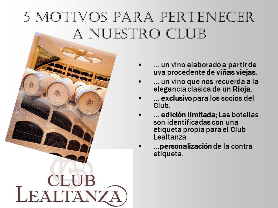 CLUB LEALTANZA CLUB LEALTANZA 2005 Tipo de uva 100% Tempranillo procedente de cepas viejas de 50 años.