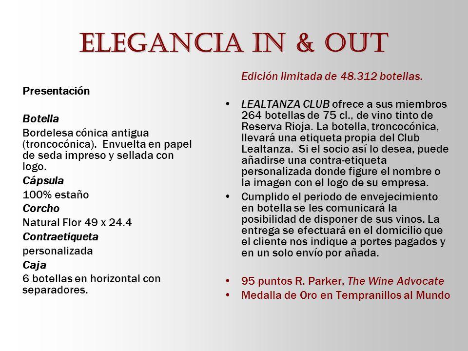 Elegancia in & out Presentación Botella Bordelesa cónica antigua (troncocónica). Envuelta en papel de seda impreso y sellada con logo. Cápsula 100% es