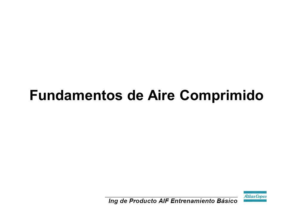 Ing de Producto AIF Entrenamiento Básico P V P V P V EFFICIENT OPERATION AT THE BUILT-IN PRESSURE RATIO (BIPR) A B X X LESS EFFICIENT EITHER ABOVE (A) OR BELOW THE BIPR IF THE BUILT-IN PRESSURE RATIO IS 3 A 1-STAGE MACHINE OPERATES BEST AT A PRESSURE RATIO OF 2.5-3.5 AND A 2-STAGE AT 6-10 STAGING - SCREW MACHINES X-EXCESS ENERGY