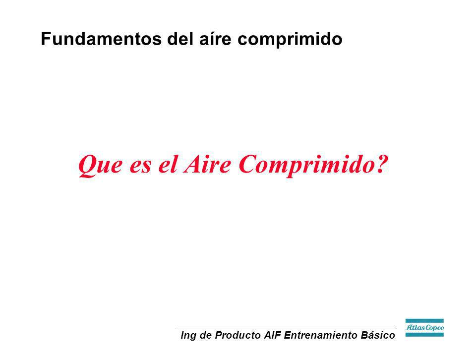 Ing de Producto AIF Entrenamiento Básico Fundamentos del aíre comprimido Que es el Aire Comprimido?