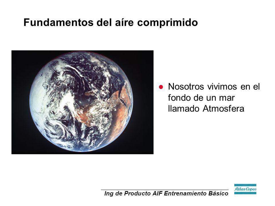 Ing de Producto AIF Entrenamiento Básico l Nosotros vivimos en el fondo de un mar llamado Atmosfera Fundamentos del aíre comprimido