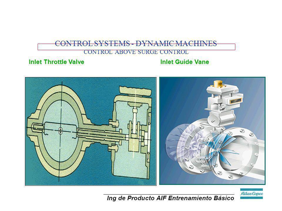 Ing de Producto AIF Entrenamiento Básico Inlet guide vanes Energy savings with 100 - 65% capacity control Constant pressure within control range CONTR