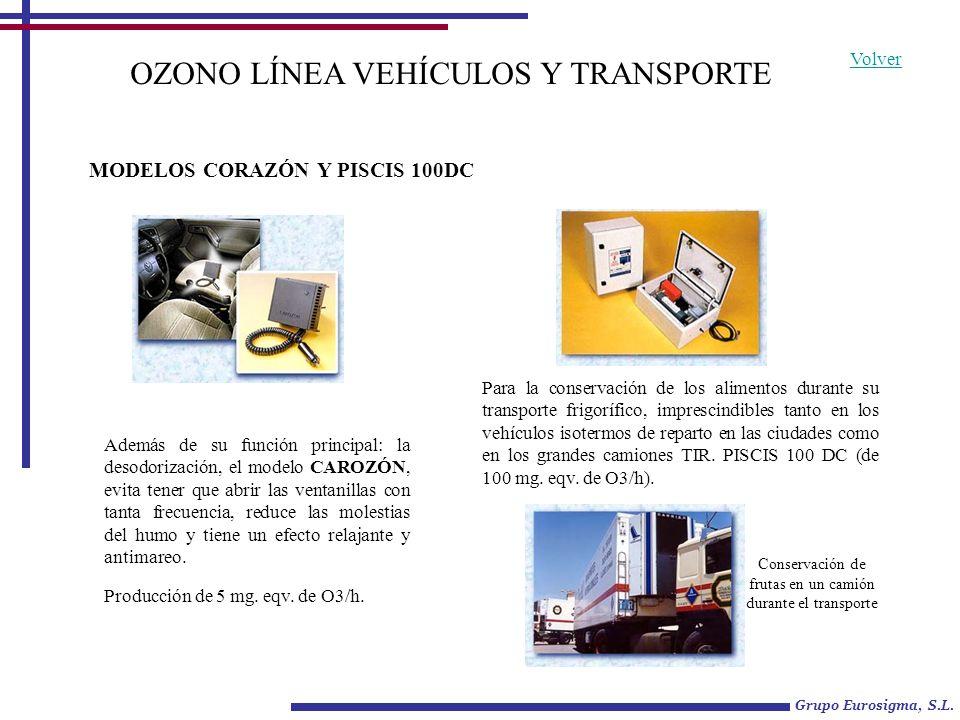 Conservación de frutas en un camión durante el transporte OZONO LÍNEA VEHÍCULOS Y TRANSPORTE Además de su función principal: la desodorización, el mod