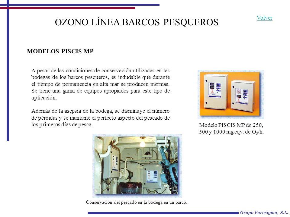 OZONO LÍNEA BARCOS PESQUEROS A pesar de las condiciones de conservación utilizadas en las bodegas de los barcos pesqueros, es indudable que durante el