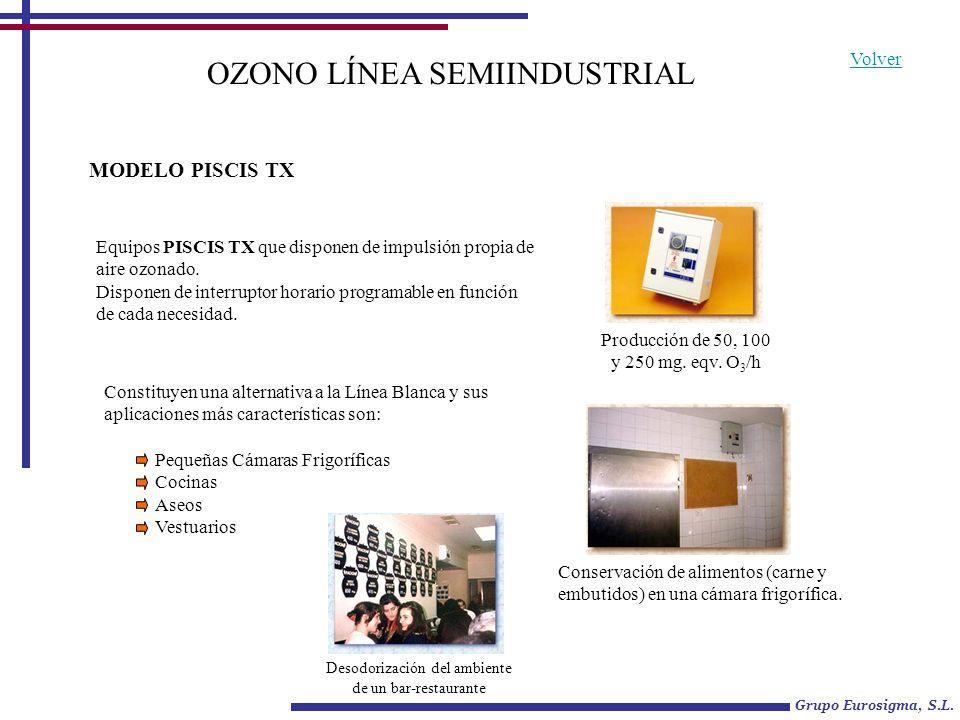 Constituyen una alternativa a la Línea Blanca y sus aplicaciones más características son: OZONO LÍNEA SEMIINDUSTRIAL Equipos PISCIS TX que disponen de