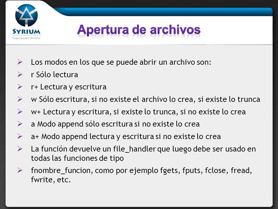 fopen(miarchivo.txt,a) Permite, en caso de no existir el archivo, crearlo.