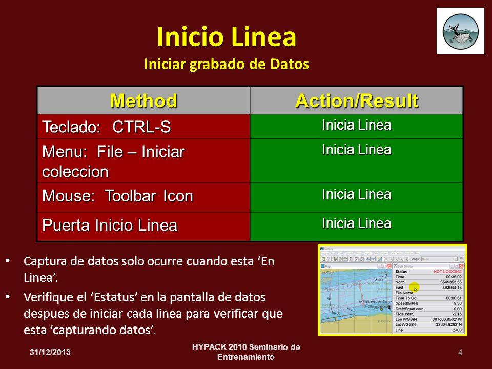 Captura de datos solo ocurre cuando esta En Linea.