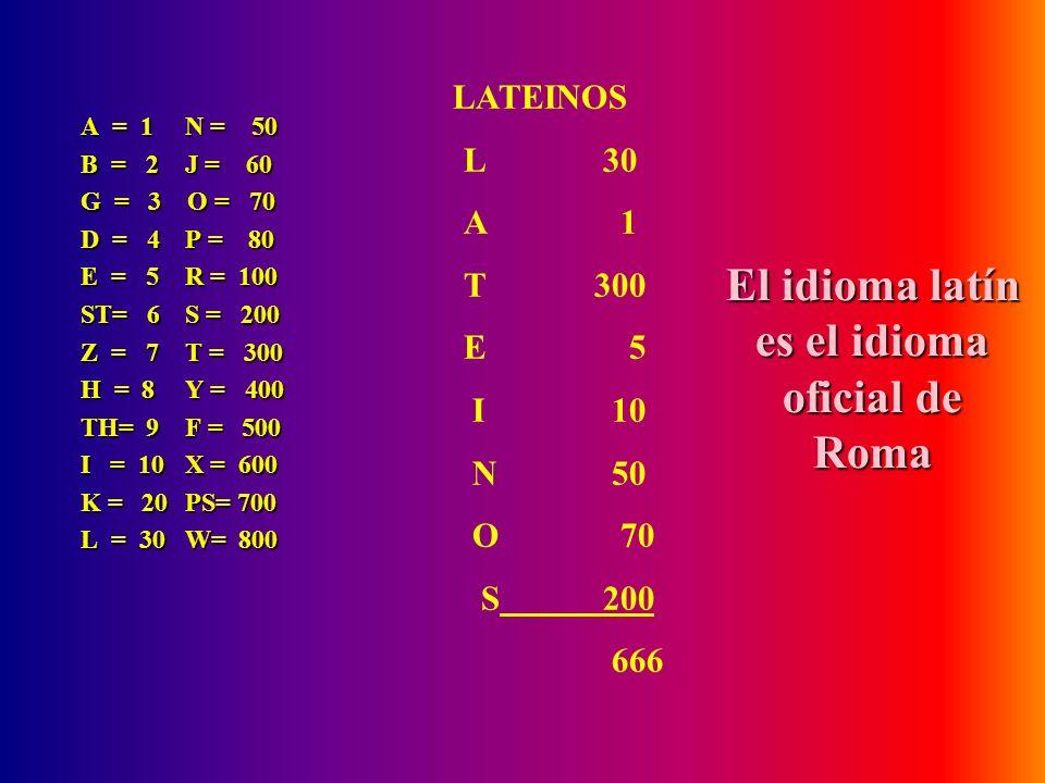 Los griegos también tuvieron conocimiento del 666. De por sí el alfabeto griego tiene su equivalencia numérica y algunos nombres suman 666 A = 1N = 50