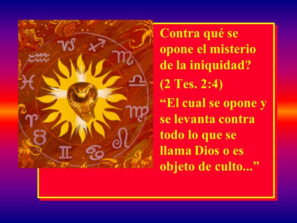 EL MISTERIO DEL ANTICRISTO Porque ya está en acción el misterio de la iniquidad; sólo que hay quien al presente lo detiene... (2 Tes. 2:7) Porque ya e