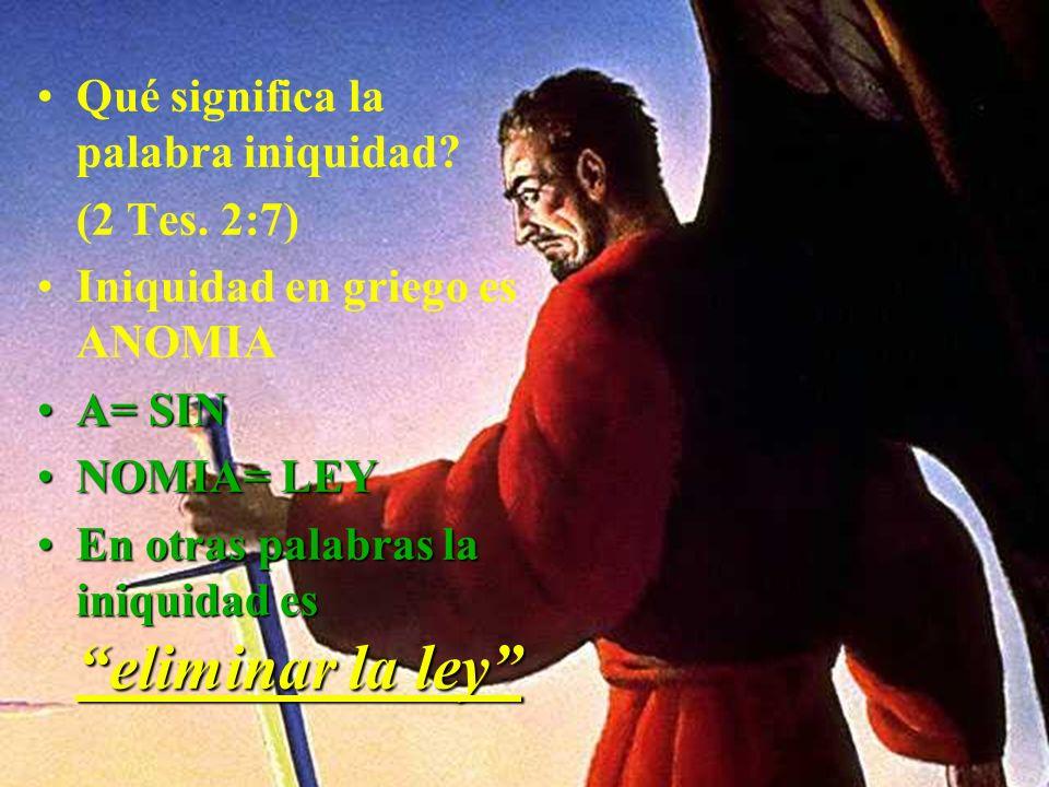 El misterio de la iniquidad frente al misterio de la piedad Satanás se ha ideado algo que sea contrario a la gloria de Dios: iniquidadLa iniquidad mis