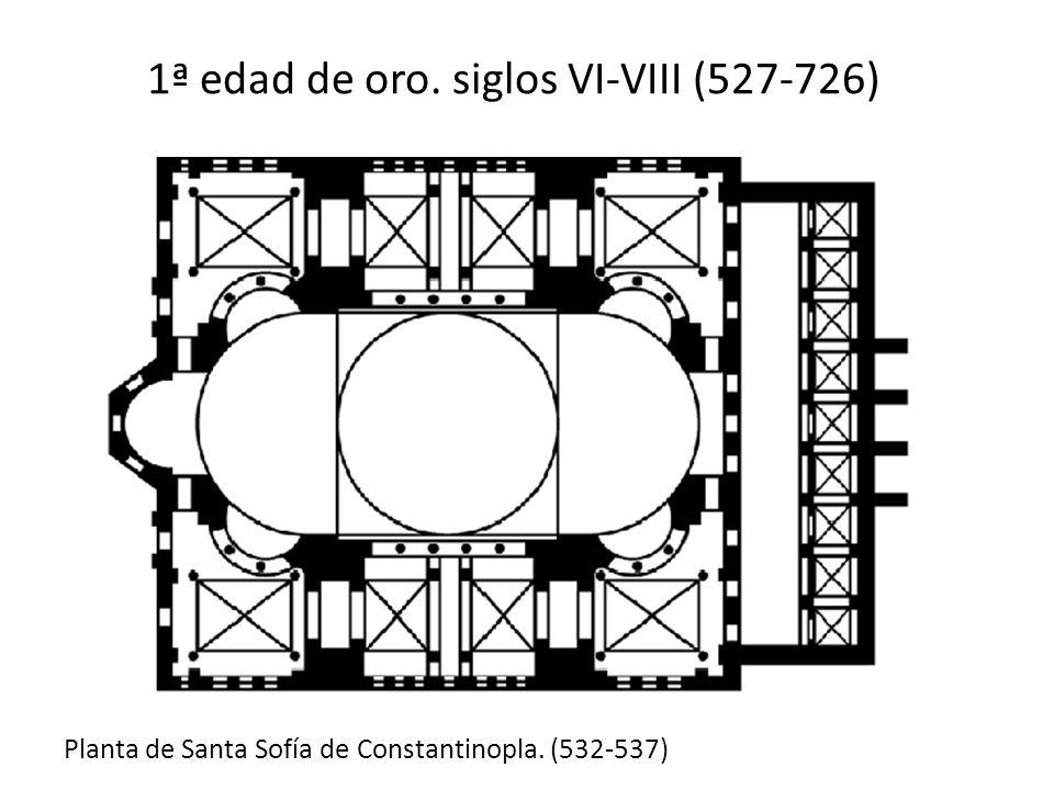 1ª edad de oro. siglos VI-VIII (527-726) Planta de Santa Sofía de Constantinopla. (532-537)