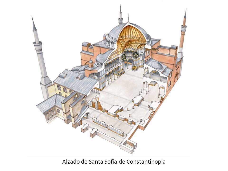 Alzado de Santa Sofía de Constantinopla