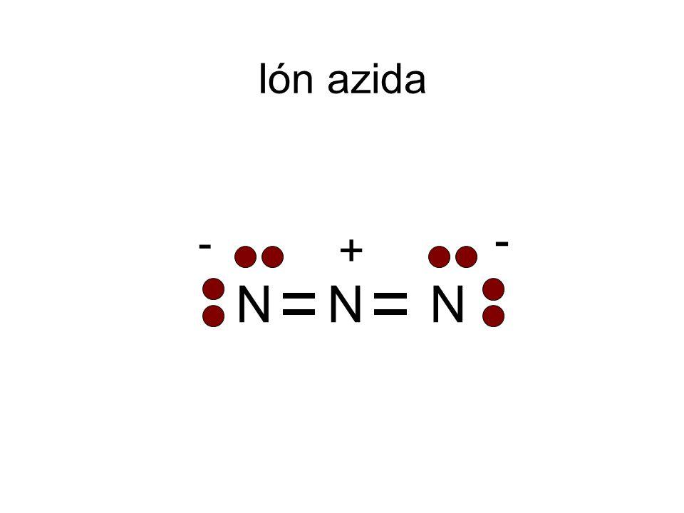 NNN + - - Ión azida