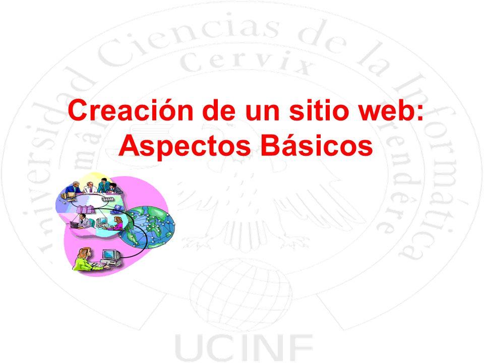 Creación de un sitio web: Aspectos Básicos
