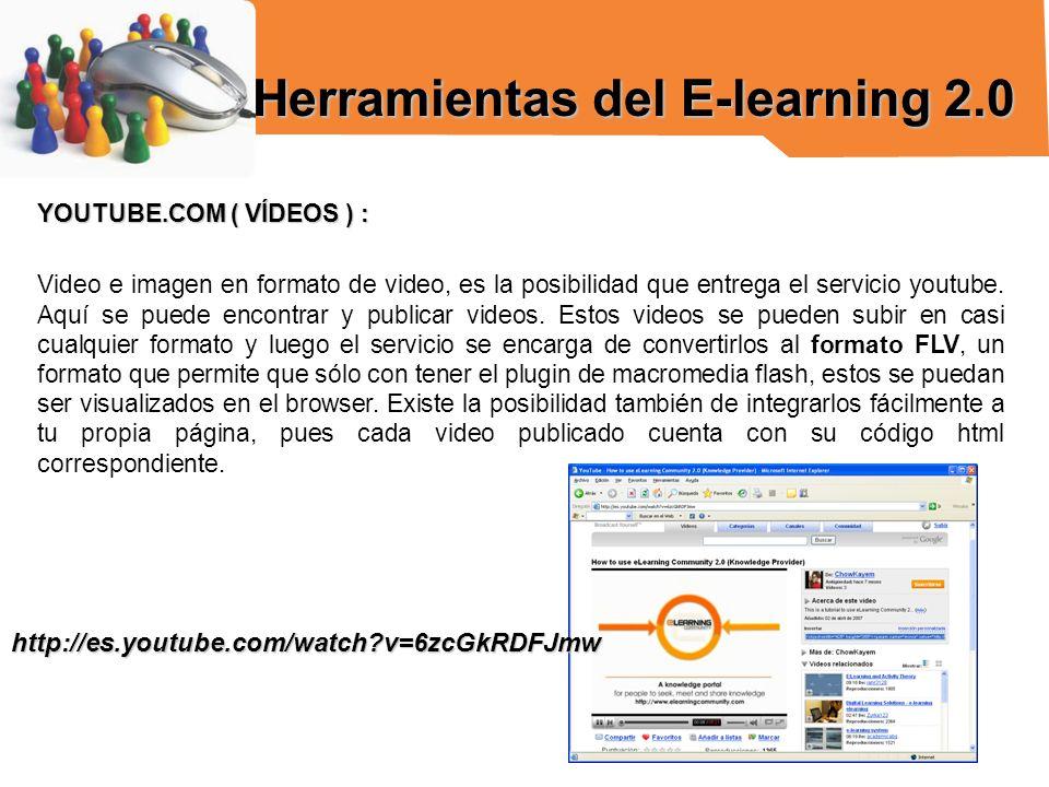 YOUTUBE.COM ( VÍDEOS ) : Video e imagen en formato de video, es la posibilidad que entrega el servicio youtube. Aquí se puede encontrar y publicar vid