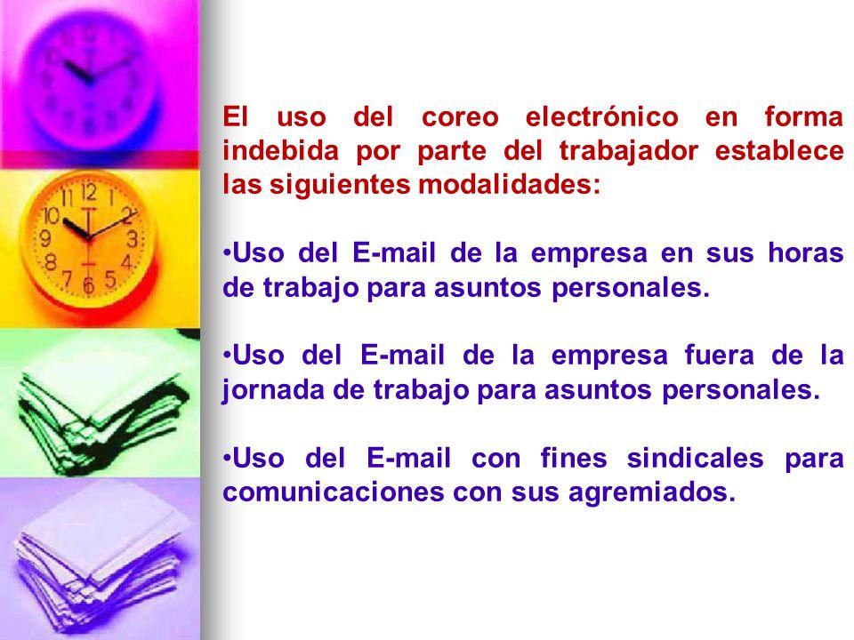 Uso del E-mail de la empresa por parte del trabajador para comunicarse con su sindicato.