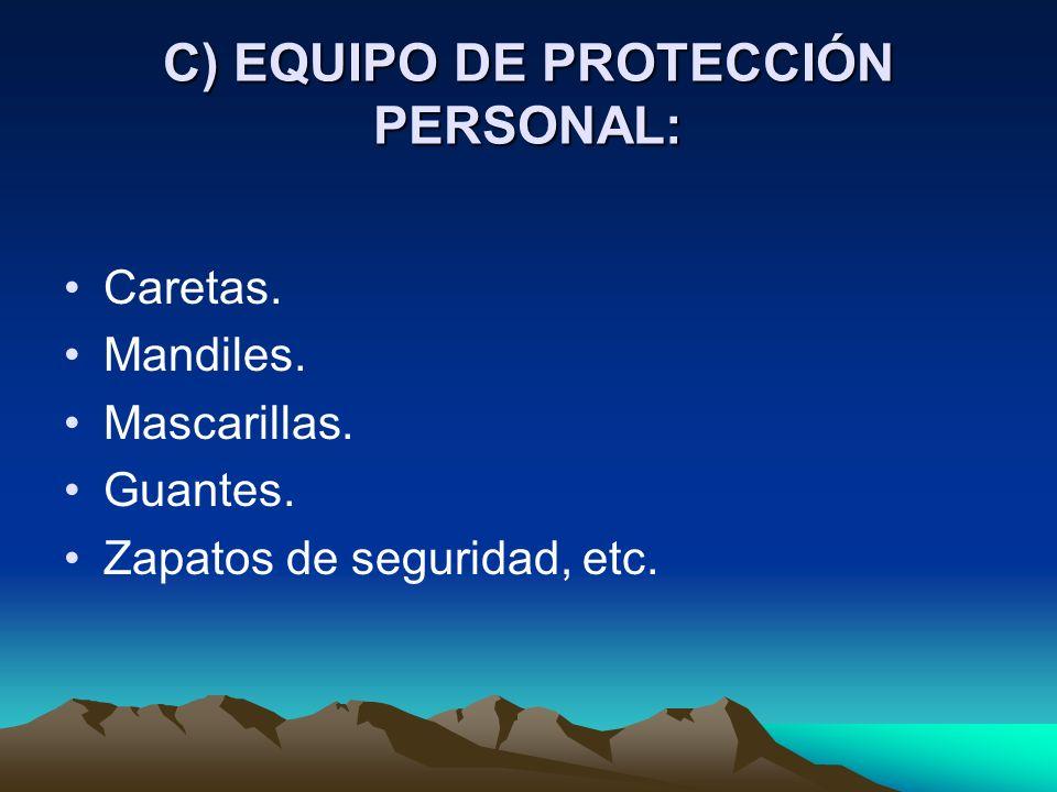 B) CONTROLES ADMINISTRATIVOS: Supervisión. Rotación de personal. Descansos periódicos. Disminución del tiempo de exposición.