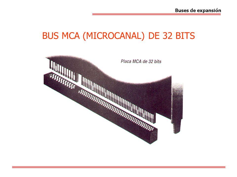 BUS MCA (MICROCANAL) DE 32 BITS Buses de expansión