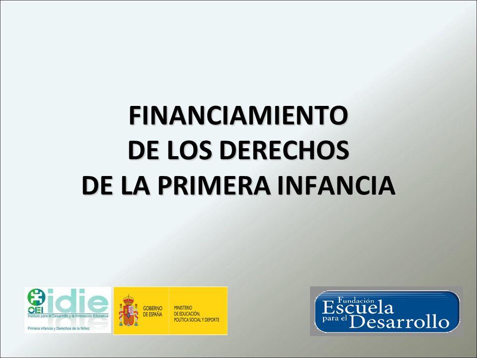 FINANCIAMIENTO DE LOS DERECHOS DE LA PRIMERA INFANCIA