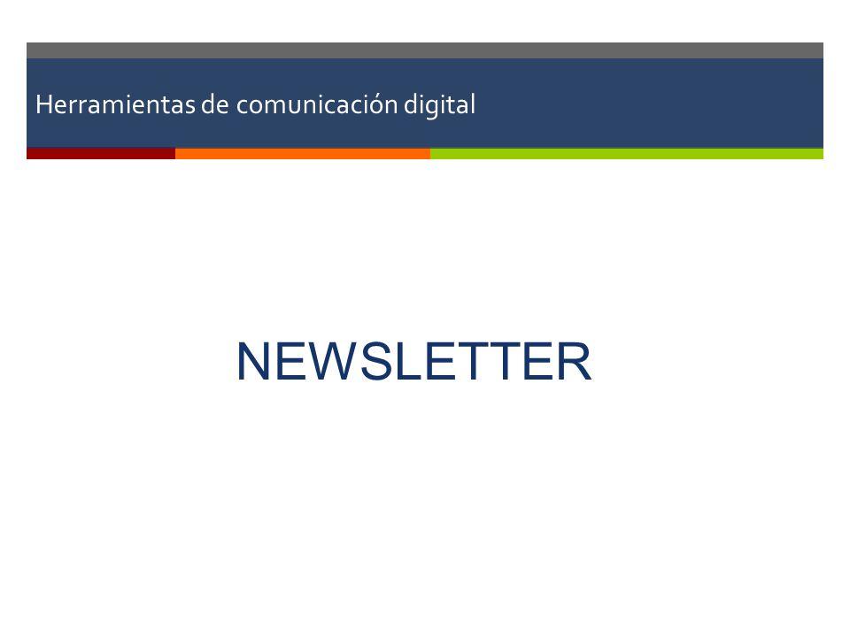 Herramientas de comunicación digital NEWSLETTER