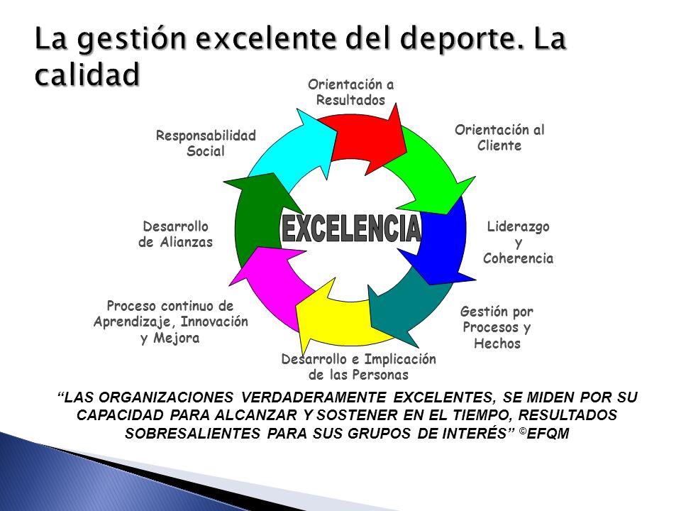 LAS ORGANIZACIONES VERDADERAMENTE EXCELENTES, SE MIDEN POR SU CAPACIDAD PARA ALCANZAR Y SOSTENER EN EL TIEMPO, RESULTADOS SOBRESALIENTES PARA SUS GRUP