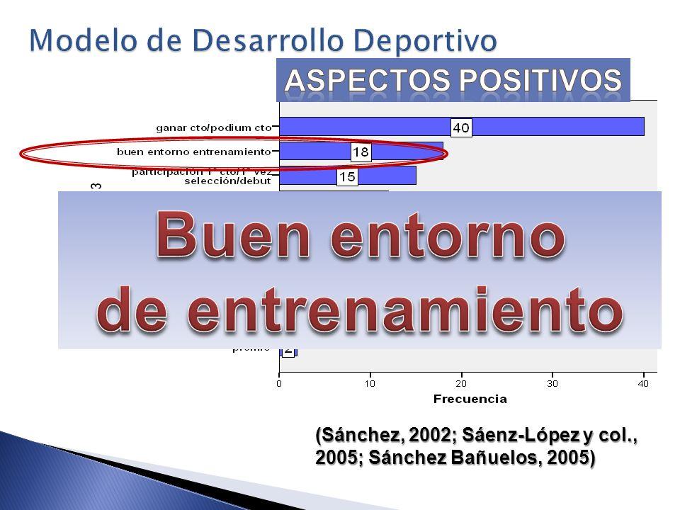 (Sánchez, 2002; Sáenz-López y col., 2005; Sánchez Bañuelos, 2005)