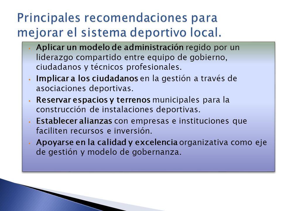 Aplicar un modelo de administración regido por un liderazgo compartido entre equipo de gobierno, ciudadanos y técnicos profesionales. Implicar a los c