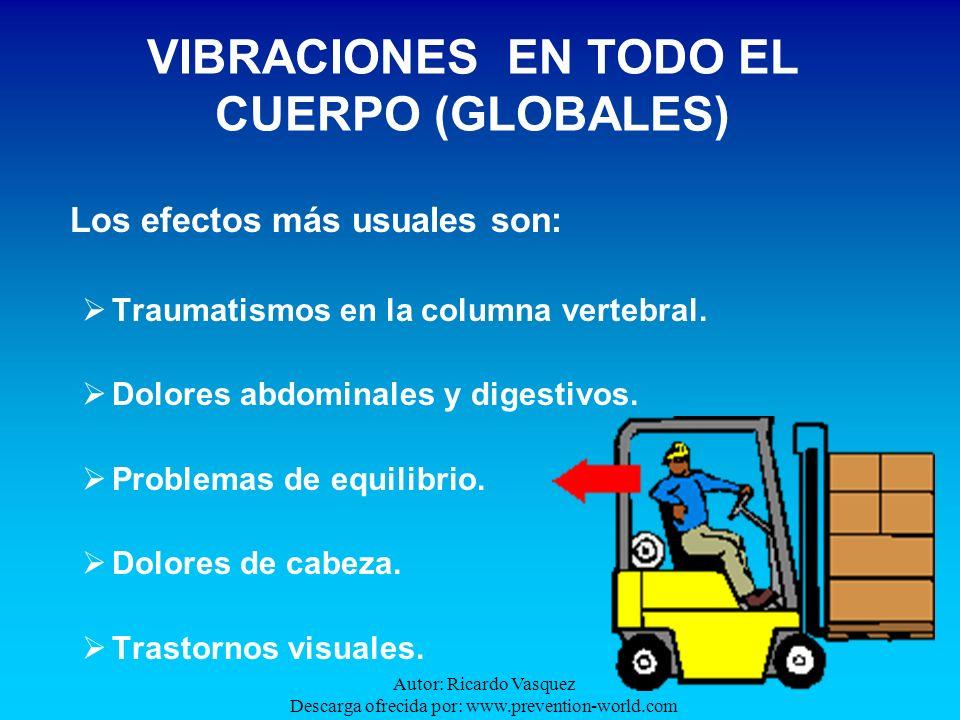 Autor: Ricardo Vasquez Descarga ofrecida por: www.prevention-world.com Los efectos más usuales son: Traumatismos en la columna vertebral. Dolores abdo