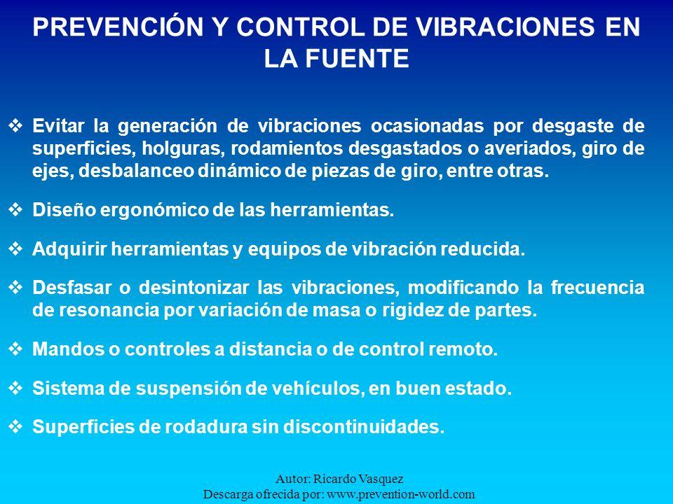 Autor: Ricardo Vasquez Descarga ofrecida por: www.prevention-world.com Evitar la generación de vibraciones ocasionadas por desgaste de superficies, ho